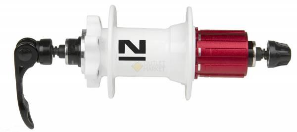 Втулка задняя Novatec D042SB 32 отверстия 8/9/10 скоростей 6 болтов QR 168 мм белая
